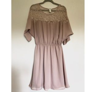 Charlotte Russe Lace & Chiffon Dress